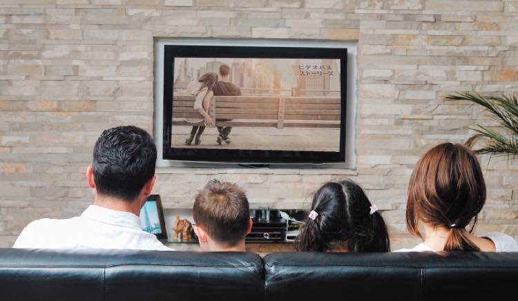 テレビの大画面でビデオパスを楽しむ